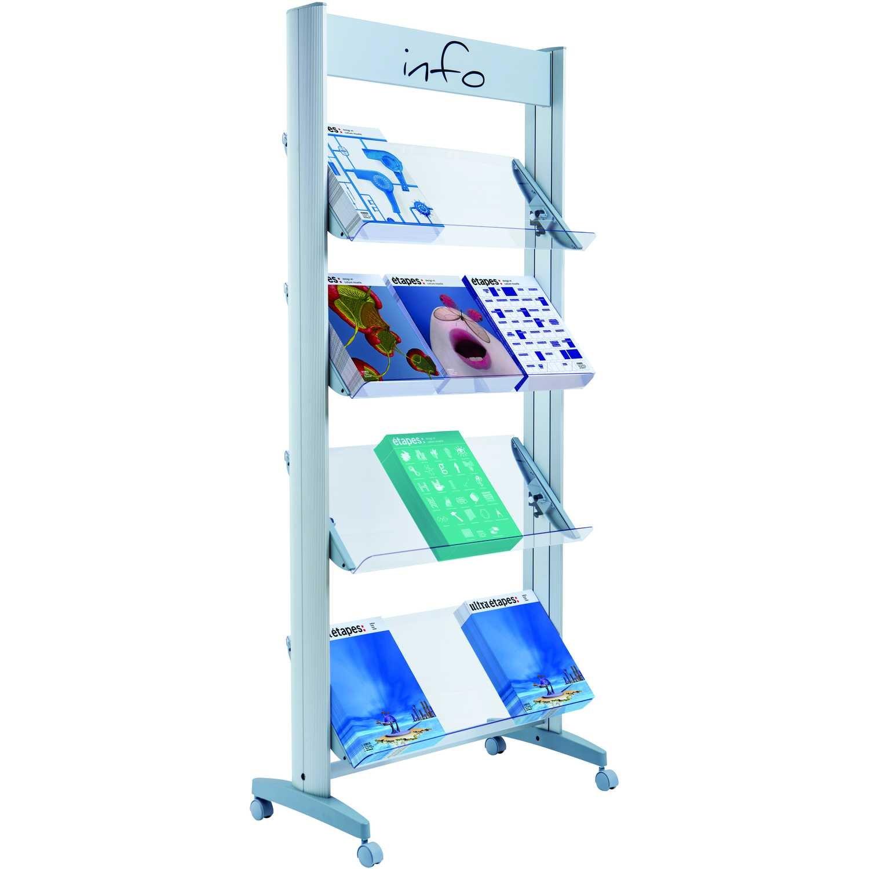 Paperflow Prospektständer Plexiglas Nr. 12.A4TT.35 12 Fächer