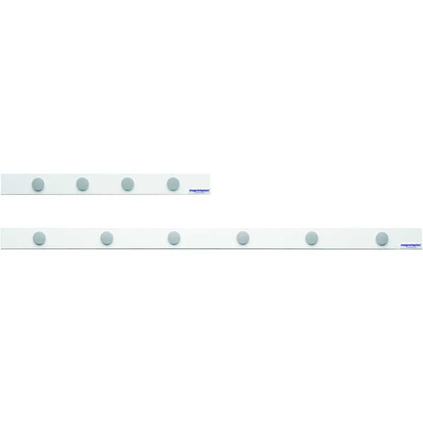 Magnetoplan Magnetleiste 16270M 50cmx50mm weiß+4 Magnete