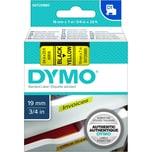 Dymo Schriftbandkassette S0720880 19mmx7m schwarz auf gelb45808 D1