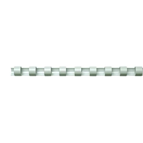 Fellowes Binderücken comb 10mm weiß Nr. 5345805 A4 PA 100Stk 21 Ringe