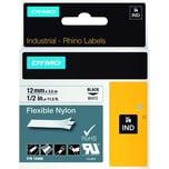 Dymo Rhino Nylonband S0718100 12mmx35m schwarz auf weiß 18488