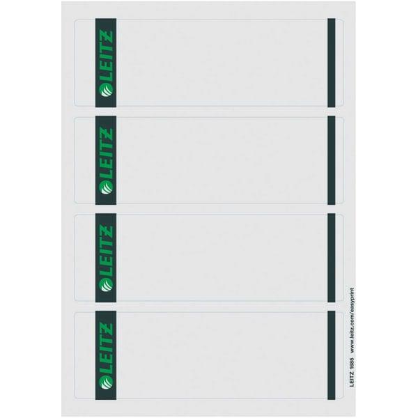 Leitz Rückenschild breit/kurz grau Nr. 1685-85 sk PA 400St bedruckbar