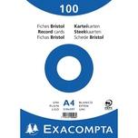 ExacomPTA Karteikarte A4 blanko weiß Nr. 10506E. PA= 100Stk