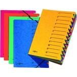 Pagna Ordnungsmappe A4 12 Fächer gelb Nr. 24131-05 EASY 265g/m² Pressspan