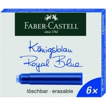 FABER-Castell Tintenpatronen königsblau Nr. 185506 PA 6 Stk löschbar