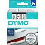 Dymo Schriftbandkassette S0720820 19mmx7m schwarz auf transparent45800D1
