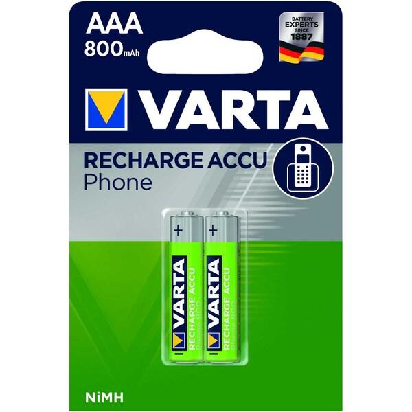 Varta Akku Phone Power Micro Aaa Nr. 58398101402 12Vhr03 800Mah 2Stk