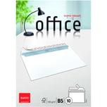 """Elco Briefumschlag Office B5 haftklebend PA 10St hochweiß ohne Fenster 100g/m"""""""