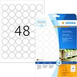 Herma Etikett stark haftend Nr. 10915 Nr. 1.200 Stk Ø 30mm weiß