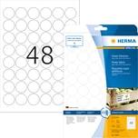 Herma Etikett stark haftend Nr. 10915 PA= 1.200Stk. Ø 30mm weiß