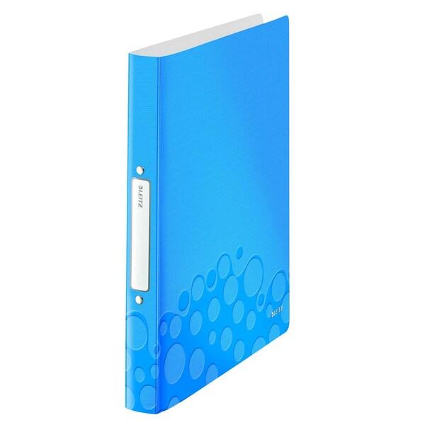Leitz Ringbuch WOW A4 blau metallic Nr. 4257-36 . 2 Ringe Ø 25mm