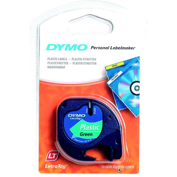 Dymo Etikettenkassetten-System S0721690 12Mmx4M Grün Plastikband