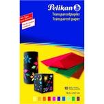 Pelikan Transparentpapier 233 M 40g/m² Nr. 137943 farbig sortiert PA 10Blatt