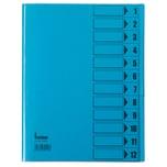 Bene Ordnungsmappen A4 12 Fächer inten- sivblau Nr. 84800 BL 230g/m² PVC