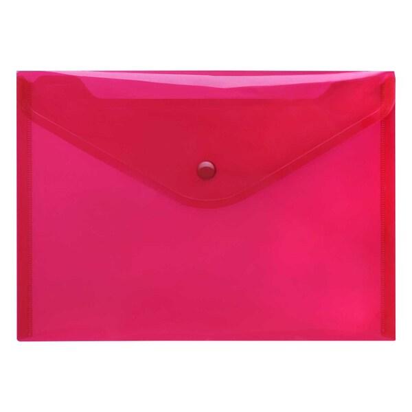 FolderSys Sichttasche A5 quer PP rot Nr. 40912-84 PA 10St PP Druckknopf