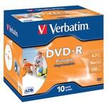 Verbatim DVD-R 47GB 120Min 16x inkjet Nr. 43521 PA 10StJewel Caseprintable