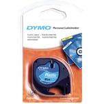Dymo Schriftbandkassette LetraTag S0721650 12mmx4m schwarz auf blau