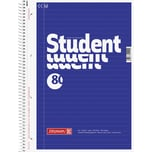 BRUNNEN Collegeblock Student A4 liniert Nr. 1067941 80Bl. 70g m.Rand blau