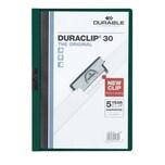 Durable Klemmmappe DURACLIP A4 petrol Nr. 2200-32 Füllhöhe 30Bl mit Deckblatt