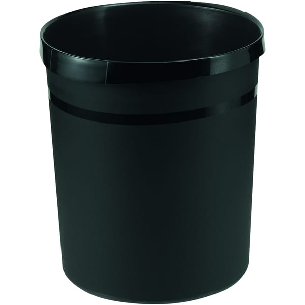 Han Papierkorb Grip Karma schw. 18 Liter Nr. 18198-13 100% Recyclingmaterial