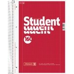 Brunnen Collegeblock Student A4 kariert Nr. 1067728 160 Blatt 70g rot