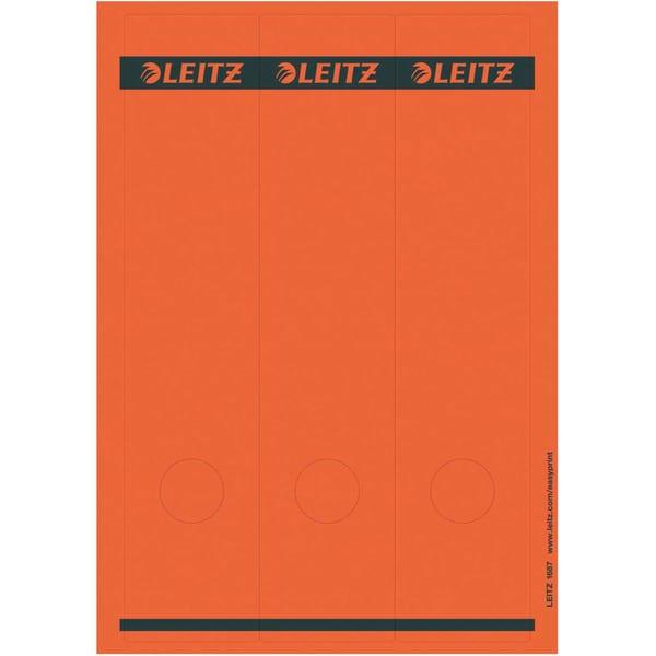 Leitz Rückenschild breit/lang rot Nr. 1687-25 sk PA 75St bedruckbar