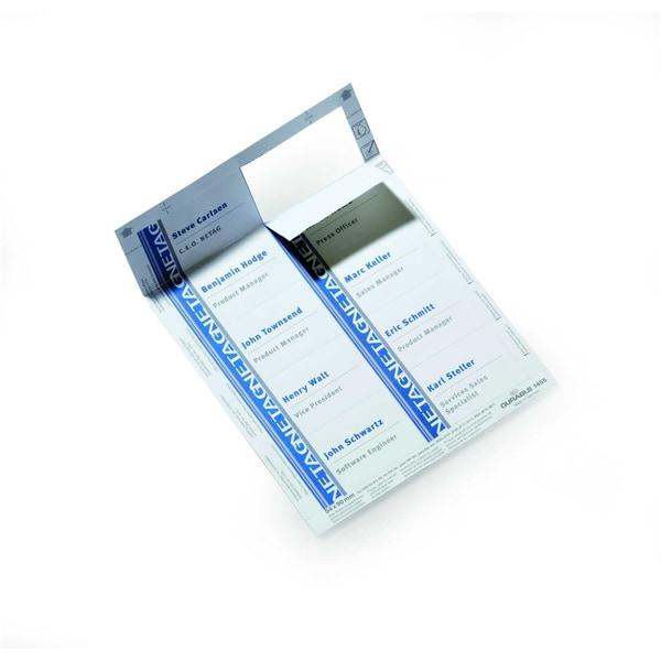 Durable Einsteckschild Badgemaker weiß Nr. 1455-02 90x54mm PA 200 Stück