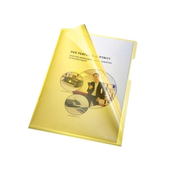 Bene Sichthülle A4 PVC/Hartfolie gelb Nr. 205000 GE 150my PA 100Stk