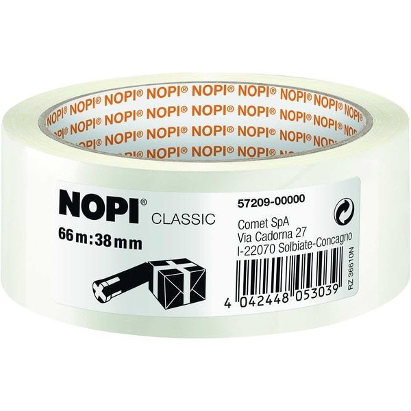 Nopi Packband 38mmx66m transparent Nr. 57209 hohe Reißfestigkeit