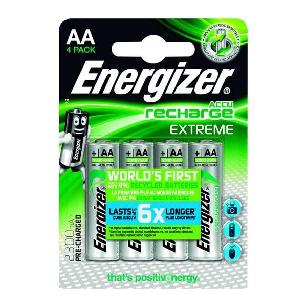 Energizer Akku Recharge Extreme Aa Nr. E300624600 12Vhr6 Mignon 4Stück