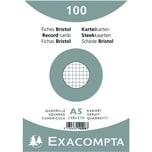 ExacomPTA Karteikarte A5 kariert weiß Nr. 10208E. PA= 100Stk