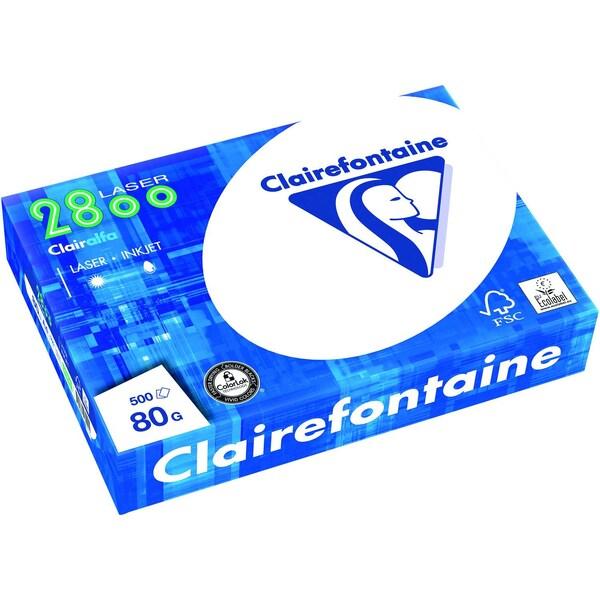 Clairefontane Kopierpapier Laser A4 80g Nr. 2800C hochweiß PA 500Blatt