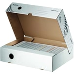 Leitz Archivschachtel Easyboxx A4 Nr. 6134 8X25X35Cm Recyc.Weiß