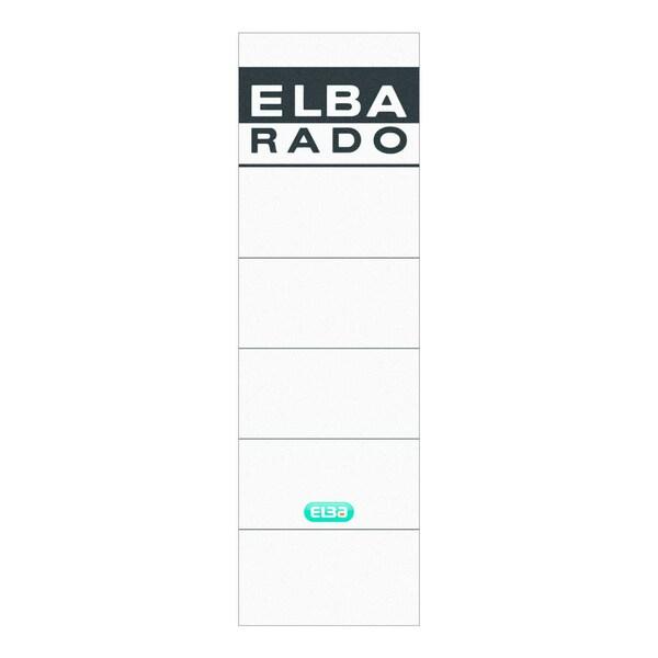 Elba Rückenschild breit/kurz weiß 100551826 sk PA 10Sthandbeschreibbar