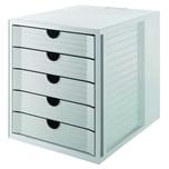 Han Schubladenbox Karma Grau Nr. 14018-18 5 Fächer Recyclinggeschl