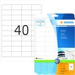 Herma Premium-Etikett Nr. 4357 weiß PA= 1.000Stk. 48.5x25.4mm. bedruckbar