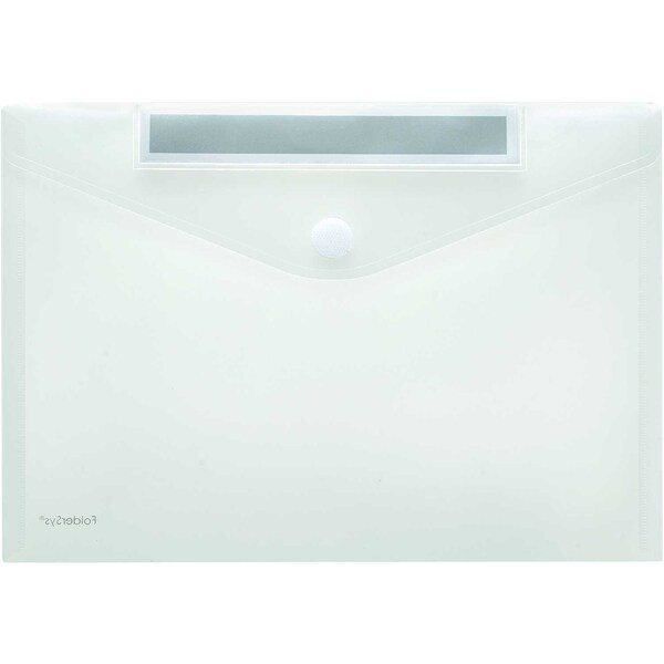 Foldersys Sichttasche A4 quer PP Index Nr. 40161-04 PA 10St transparent/grau