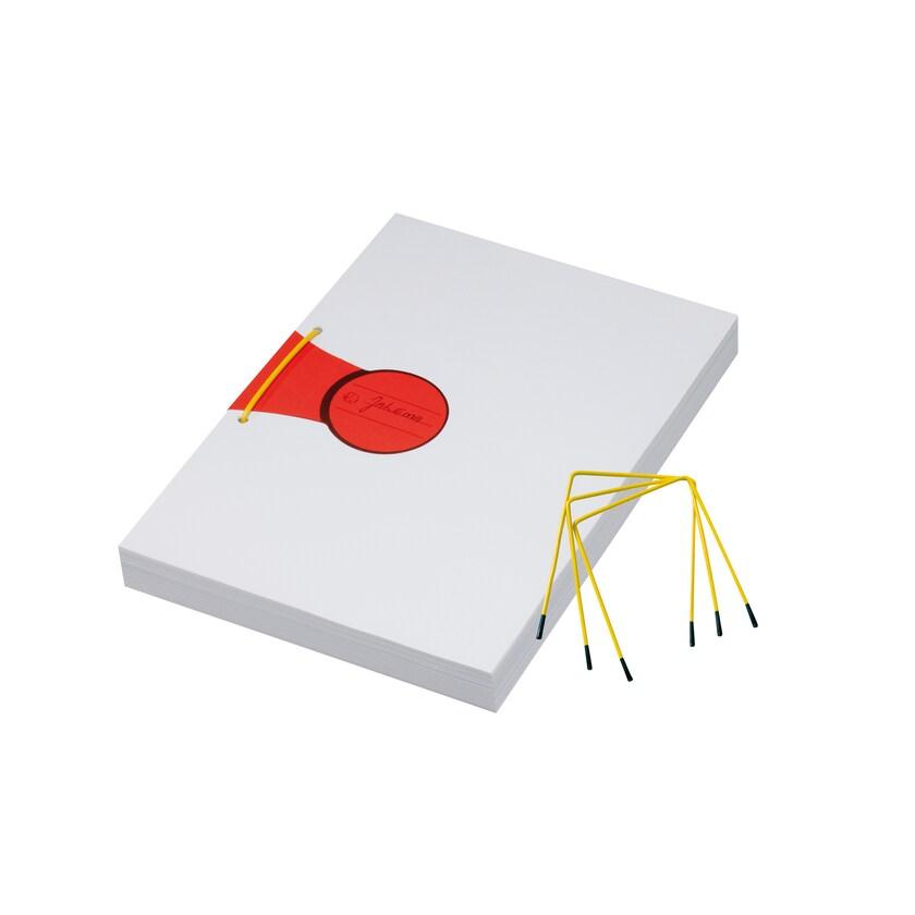 Jalema Archivbinder Abheftbügel Gelb Nr. A6398001 Füllhöhe 90Mm Pa= 10Stk