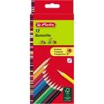 Herlitz Farbstift Dreikant 2.5mm Nr. 10412021. farbig sortiert. PA= 12Stk