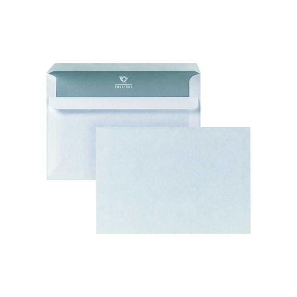 Posthorn Briefumschlag C6 selbstklebend ohne Fenster 75g Innendruck weiß (1.000 Stück)