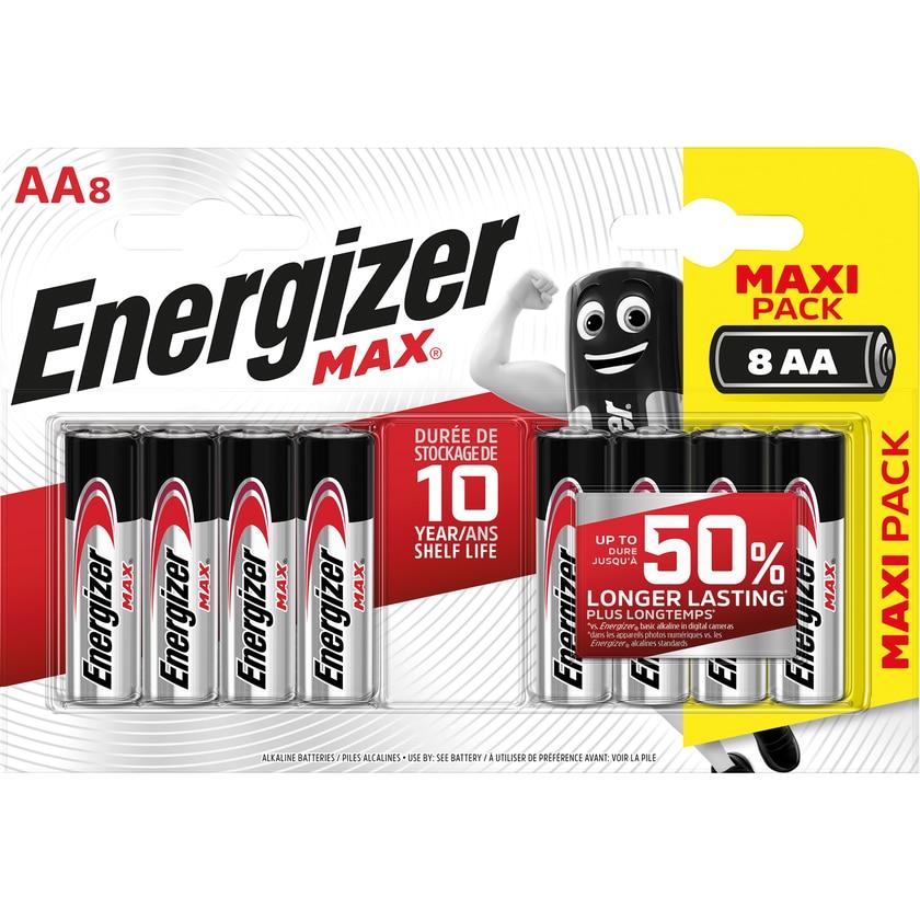 Energizer Batterie Max AA Mignon Nr. E301531300. 1.5V. LR6. PA= 8Stk