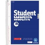 BRUNNEN Collegeblock Student Recycl. A4 Blauer Engel Nr. 106783101. 80Blatt.70g. liniert