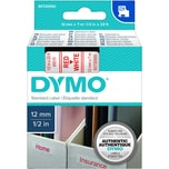 Dymo Schriftbandkassette S0720550 12mmx7m rot auf weiß45015 D1