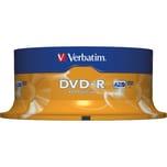 Verbatim DVD-R 47GB 120Min 16x Scratch Resistant Nr. 43522 25er Spindel