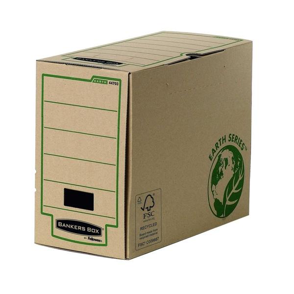 Bankers Box Archivschachtel R-Kive Earth 4470301 recyc. KartonRückenbreite 15cm