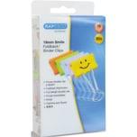 Rapesco Foldbackklemmer Smiley 19mm weiß Nr. 1428. sortiert. PA= 80Stk.