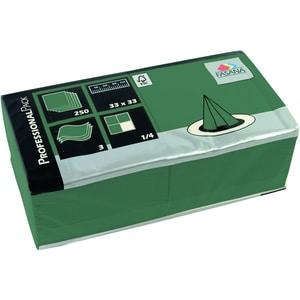 Fasana Serviette 3-lagig 33x33cm Nr. 217734 smaragdgrün PA= 250Stk