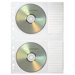 Soennecken CD Hülle 2 CD's beschriftbar Nr. 1612 PA 5St transparent abheftbar