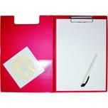 Schreibmappe 23392 Folienüberzug A4 hoch Klemmweite 8mm rot