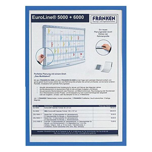 Franken Dokumentenhalter A3 blau Nr. ITSA3M 03 32my magnethaftend